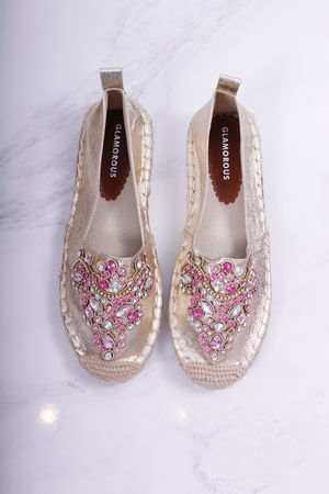 Gold Jewelled Espadrilles