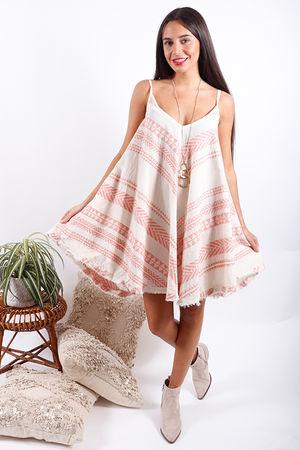 Gypsy Soul Swing Dress Pink Clay