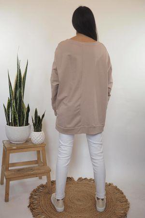 Hamsa Oversized Zippi Sweat Blush