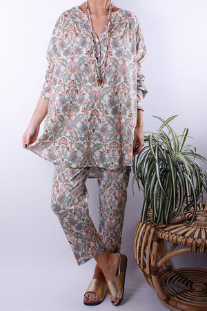 Happy Few Muted Boho Oversized Shirt