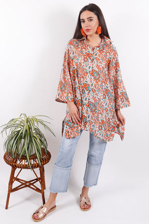 Happy Few Paisley Button Back Shirt