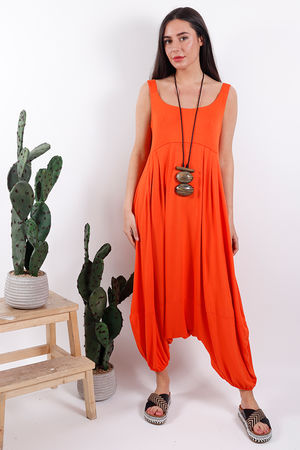 Harem Jumpsuit Tangerine