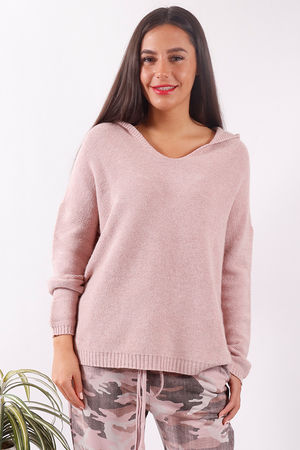 Hooded Knit Blush