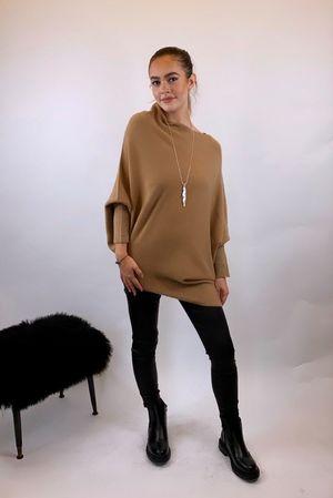 The Charli Huggle Knit Camel