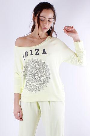 Ibiza Printed Sweat Lemonade
