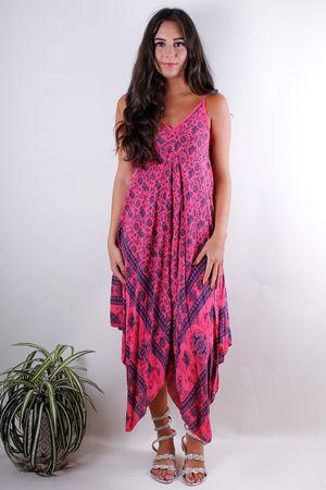 Indian Handkerchief Dress Blaze