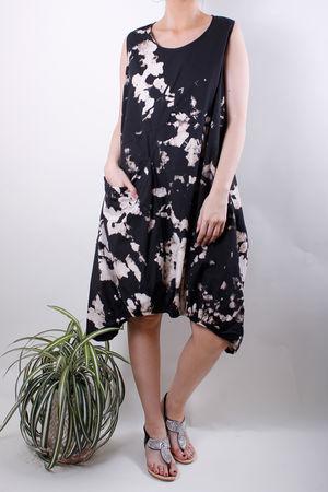 Ink Bleach Oversized Poplin Dress