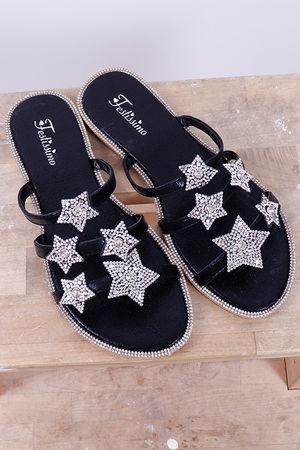 Inky Pinky Star Sandal Black