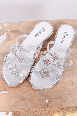 Inky Pinky Star Sandal Silver