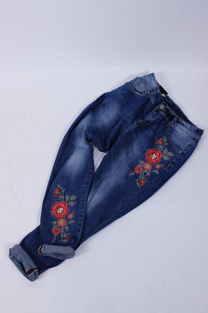 Isabel Embroidered Floral Stretch Jeans