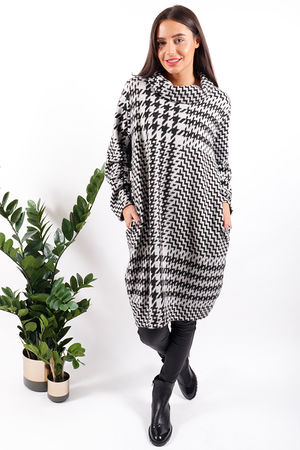 Jagger Dogtooth Cowl Tunic