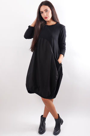 Jersey Two Pocket Cocoon Dress