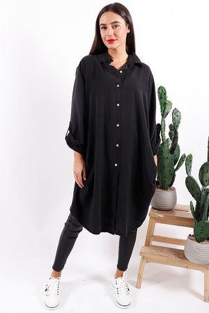 Key Largo Longline Shirt Black