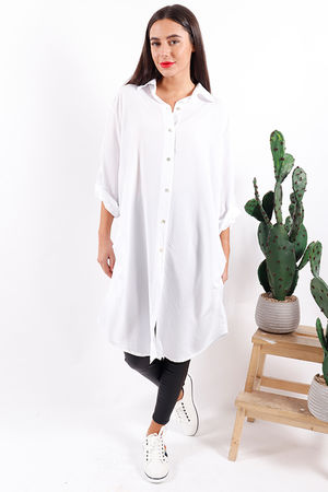 Key Largo Longline Shirt White