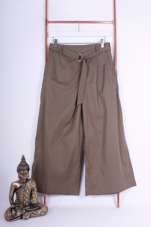 Khaki Culottes With D Ring Detail
