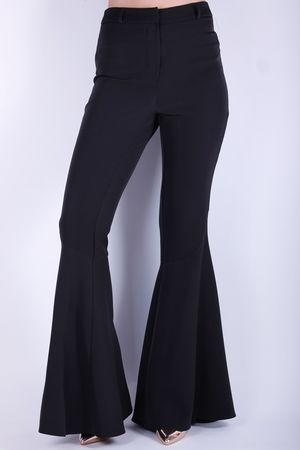 Kick Flare Trousers Black