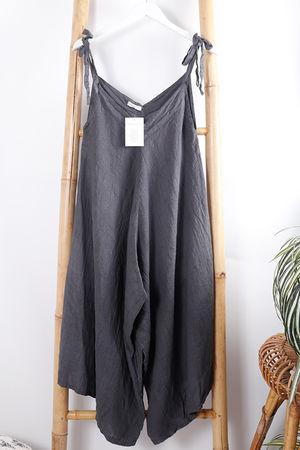 Kite Linen Jumpsuit Graphite