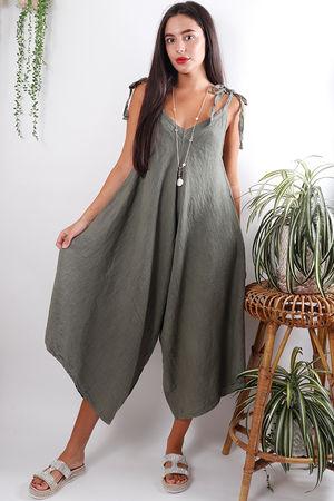 Kite Linen Jumpsuit Khaki