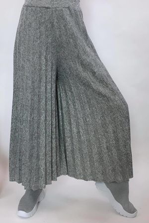 Knitted Culottes Mid Grey