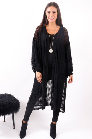 Lace Bell Sleeve Duster Jacket