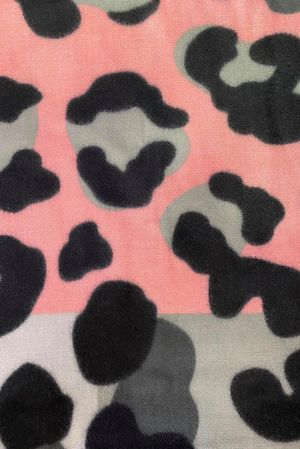 Large Leopard Scarf Greys and Pinks