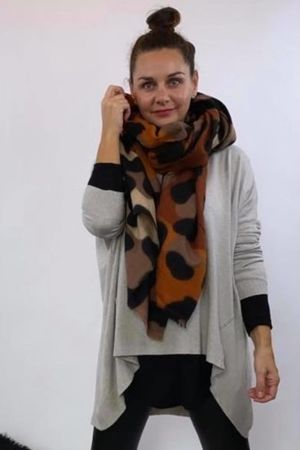 Large Leopard Scarf Tans and Browns