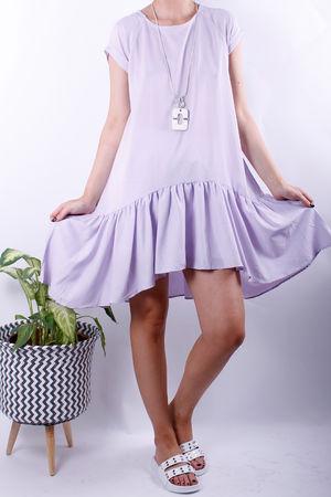 Laundry B Drop Hem Lilac Dress