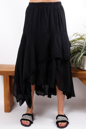 Layered Knots Skirt Black