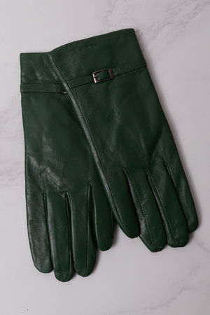 Leather Buckle Gloves Palm