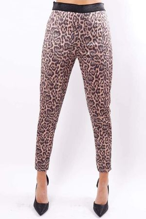 Leopard Pull On Pants