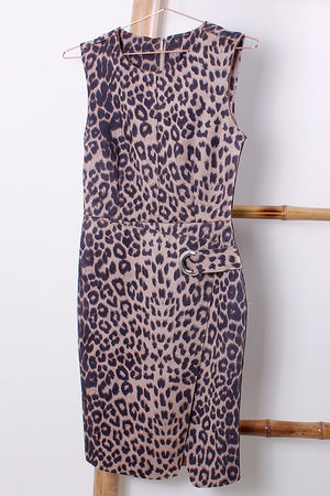Leopard Seudette Fitted Dress