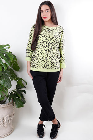 Leopard Sweat Summer Lime