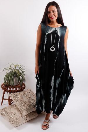 Lightening Basic Base Dress Black