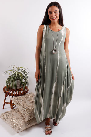 Lightening Basic Base Dress Khaki