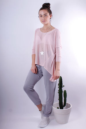 Lightweight Mesh Knit Blush