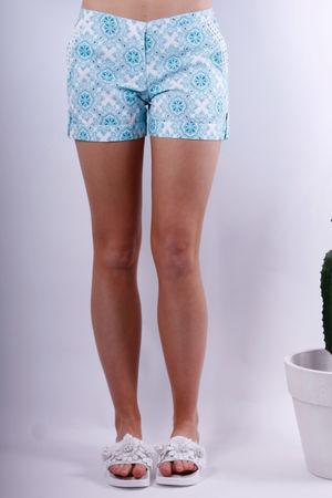 Linda Pocket Cotton Shorts Blue Love