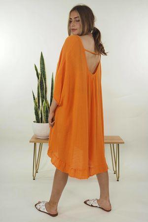 Linear Sexi Back Tunic Tangerine