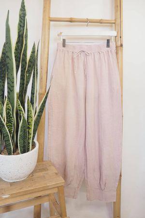 The Sahara Linen Balloon Pants Blush