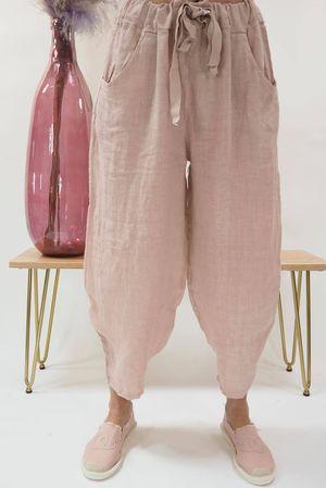 Linen Cocoon Pant Blush