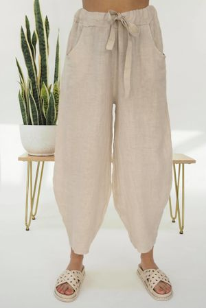 Linen Cocoon Pant Stone