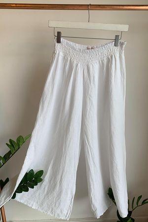 Linen Culottes White
