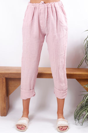 Linen Pant Blush