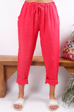 Linen Pant Strawberry Melon