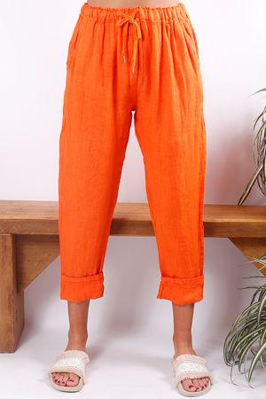 Linen Pant Tangerine