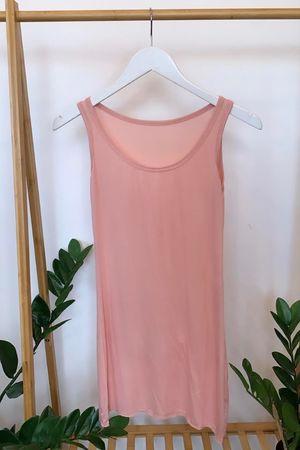Long Basic Layering Vest Blush
