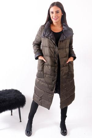 Longline Lightweight Puffer Jacket Khaki