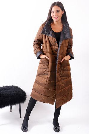Longline Lightweight Puffer Jacket Bronze
