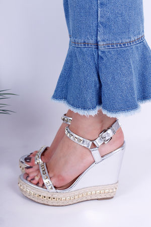 Loubie Stud Wedge in Pewter