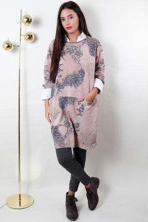 Love Lace Pocketed Tunic Blush