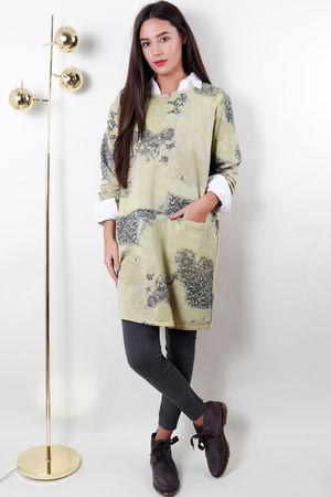 Love Lace Pocketed Tunic Soft Neon